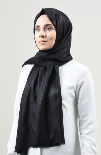 Châle Coton à Motifs 13166-01 Noir 13166-01