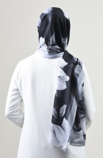 Châle Coton à Motifs 95325-01 Noir 95325-01