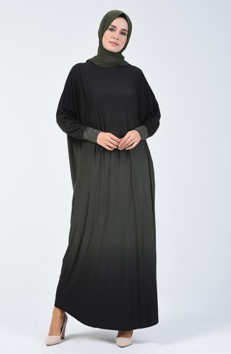 Yarasa Kol Sandy Elbise 1908-02 Haki