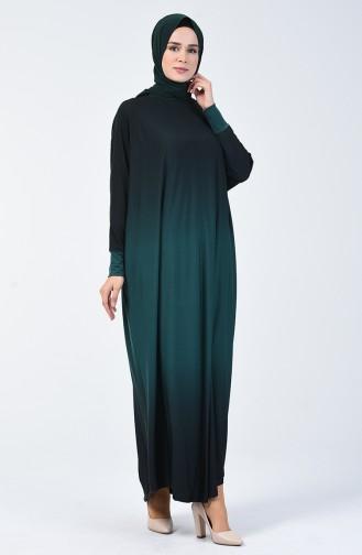 Yarasa Kol Sandy Elbise 1908-04 Zümrüt Yeşili 1908-04