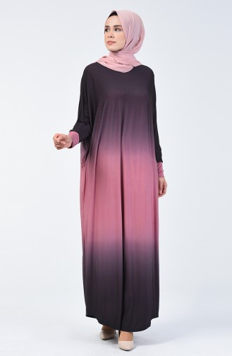 Yarasa Kol Sandy Elbise 1908-06 Somon