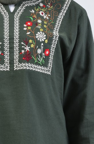 Khaki Blouse 0011-02
