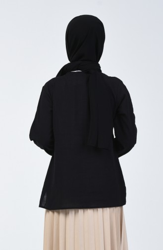 Blouse Brodée  0011-03 Noir 0011-03