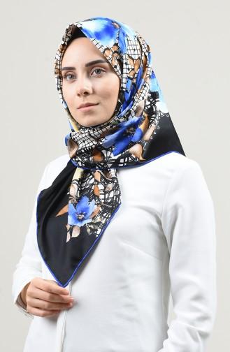 Desenli Rayon Eşarp 2457-10 Saks