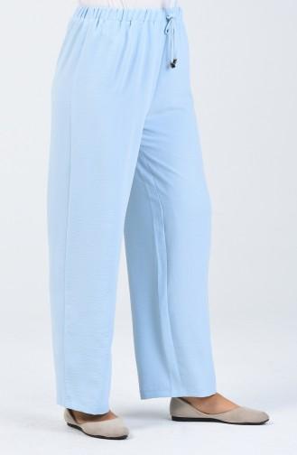 Aerobin Fabric waist Elastic Trousers 0054-06 Baby Blue 0054-06