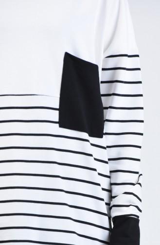 Sweatshirt à Rayures 0811-05 Noir 0811-05