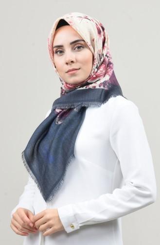 Dijital Baskılı Dubai Kaşmir Eşarp 901593-12 Füme