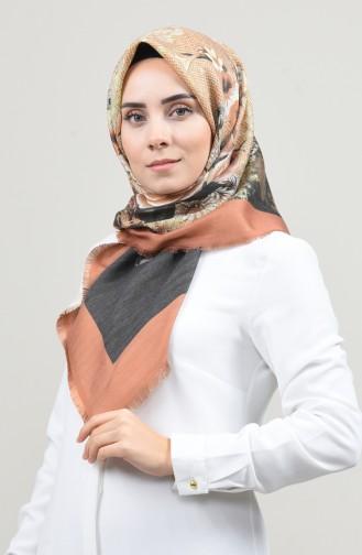 Dijital Baskılı Dubai Kaşmir Eşarp 901593-13 Turuncu