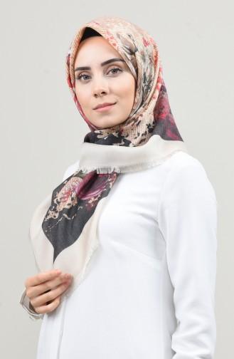 Dijital Baskılı Dubai Kaşmir Eşarp 901593-14 Krem