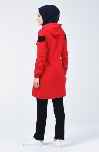 بدلة رياضية بسحاب أحمر 95195-03