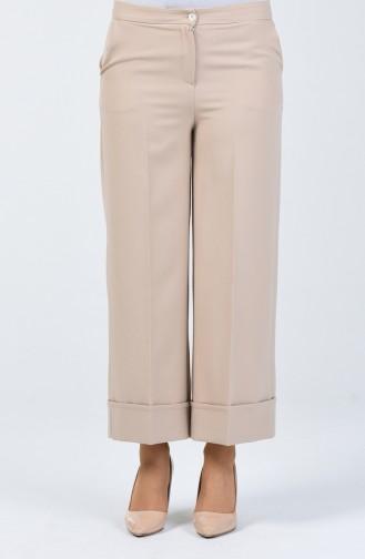 Double Paça Pantolon 3156-01 Taş 3156-01