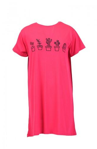 Baskılı Tshirt 8133-04 Fuşya 8133-04
