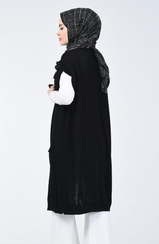 Triko Cepli Yelek 2006-02 Siyah