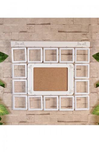 15 li Dekoratif Çerçeve CE02-01 Beyaz
