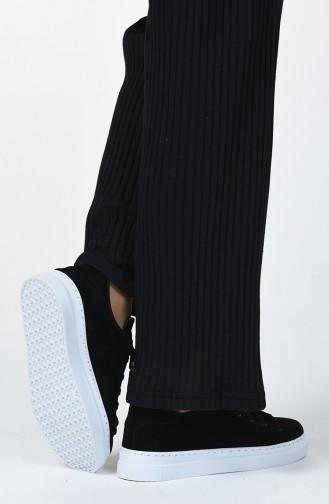 Bayan Spor Ayakkabı MDR06-02 Siyah Beyaz Taban