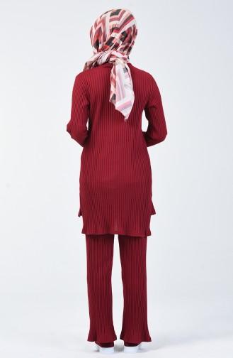 Kaşkorse Tunik Pantolon İkili Takım 3140-07 Bordo