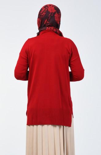 Triko Cepli Tunik 2059-05 Kırmızı