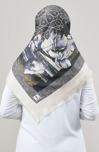 Echarpe Cachemire De Dubaï à Motifs 901592-13 Crème 901592-13