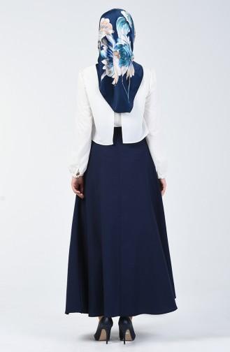 Navy Blue Skirt 2523-01