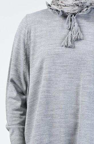 باتشو صوفي بتصميم زينة تقليدية لون الرمادي  2112-05