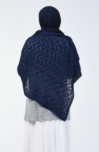 Châle D´épaule Tricot 1990-04 Bleu Marine 1990-04