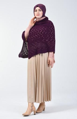 Triko Omuz Şalı 1990-07 Mor