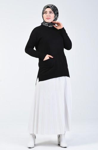 Triko Cepli Tunik 2059-04 Siyah