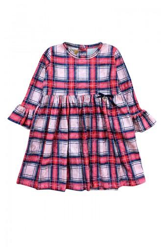 Robe Velours Pour Enfant Fille F0933 Rouge 0933