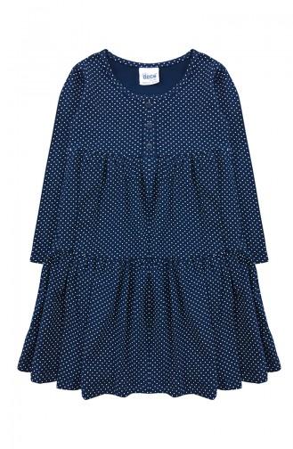 Robe Peigné Pour Enfant Fille F0990 Bleu Marine 0990