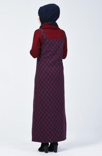 Cepli Kışlık Jile Elbise 1037-01 Lacivert