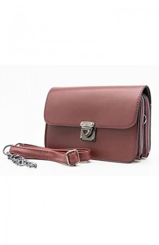 Claret red Shoulder Bag 3514-17