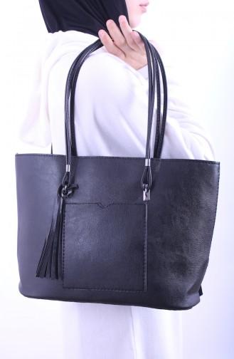 Bayan Omuz Çantası ERD11-01 Siyah