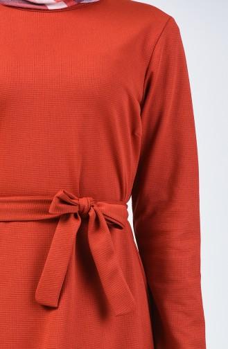 Ziegelrot Hijap Kleider 0028-03