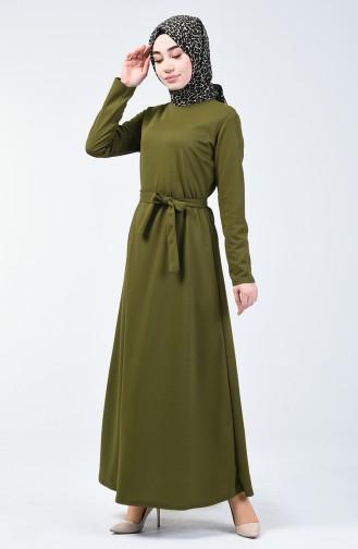 Khaki İslamitische Jurk 0028-04