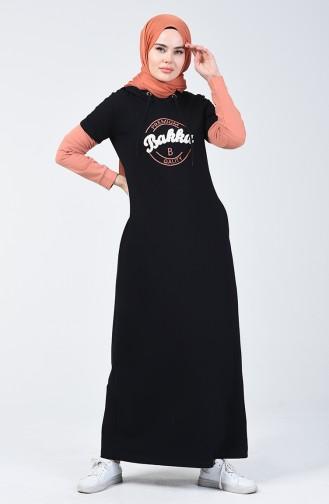 Kapüşonlu Spor Elbise 09049-01 Lacivert