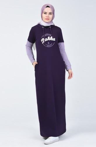 Kapüşonlu Spor Elbise 09049-02 Mor
