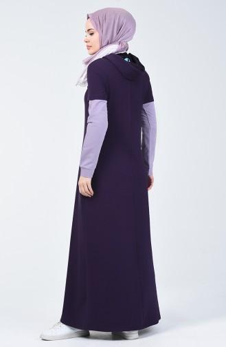 Lila Hijap Kleider 09049-02