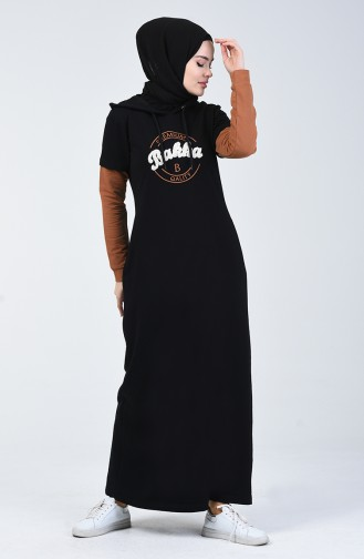 Kapüşonlu Spor Elbise 09049-03 Siyah