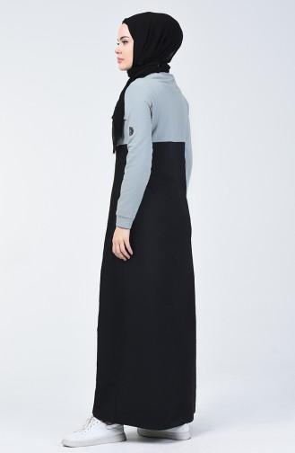 Garnili Spor Elbise 09053-01 Siyah