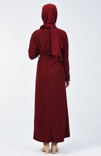 Robe à Ceinture 5306-03 Bordeaux 5306-03
