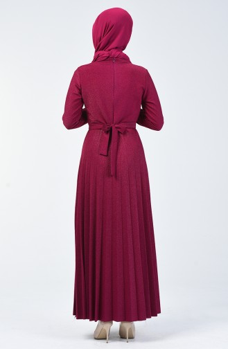 Piliseli Elbise 5115-03 Fuşya