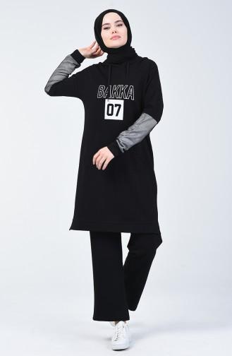 Black Sweatsuit 09057-02