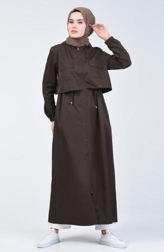 Brown Abaya 09055-03