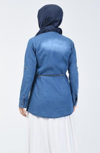 Tunique Jean avec Perles 2282-01 Bleu Jean 2282-01
