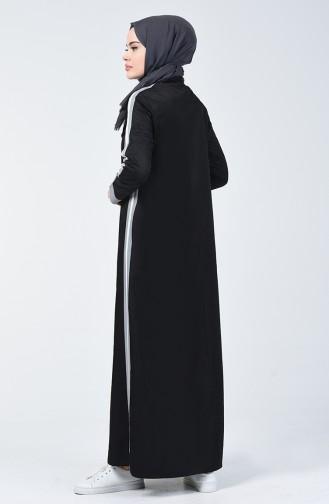 Black İslamitische Jurk 09058-01