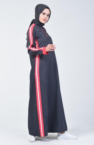 Anthracite İslamitische Jurk 09058-02
