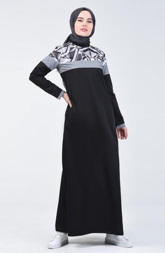 Black İslamitische Jurk 09060-01
