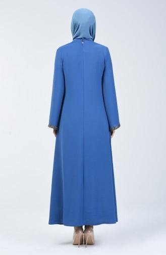 Aerobin Kumaş A Pile Elbise 0068-03 İndigo