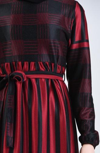 Robe à Ceinture 5330-02 Bordeaux 5330-02