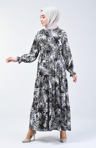 Schwarz Hijap Kleider 6033-02